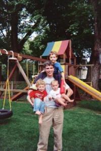 Randy Pausch and his children