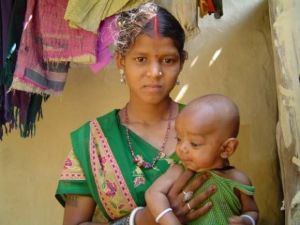 Child bride and her baby