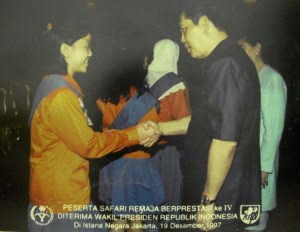 with former Vice President Try Sutrisno