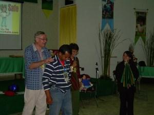 David Goodwin demonstrated Kids Keep Safe programme